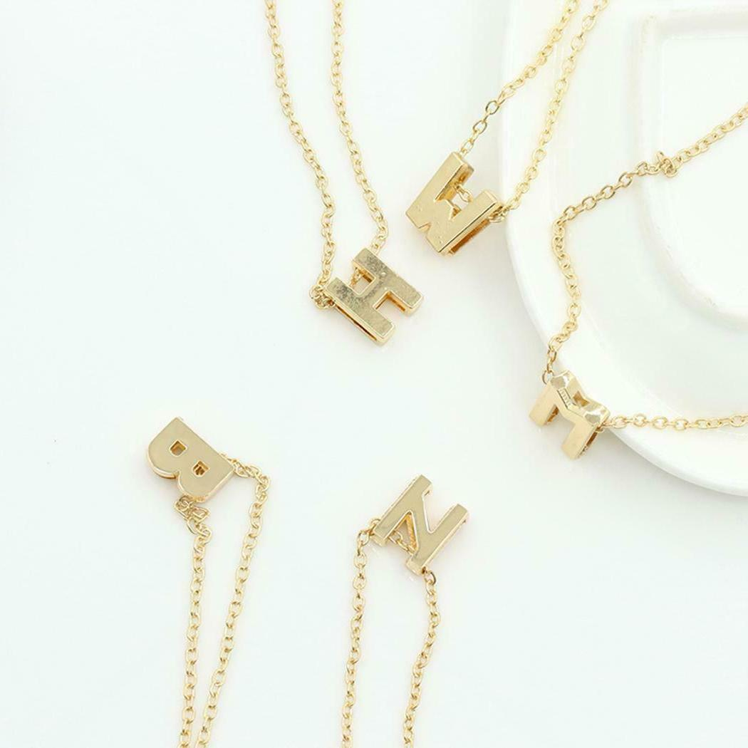 Women A-Z English Letters Custom Link Necklaces Lots