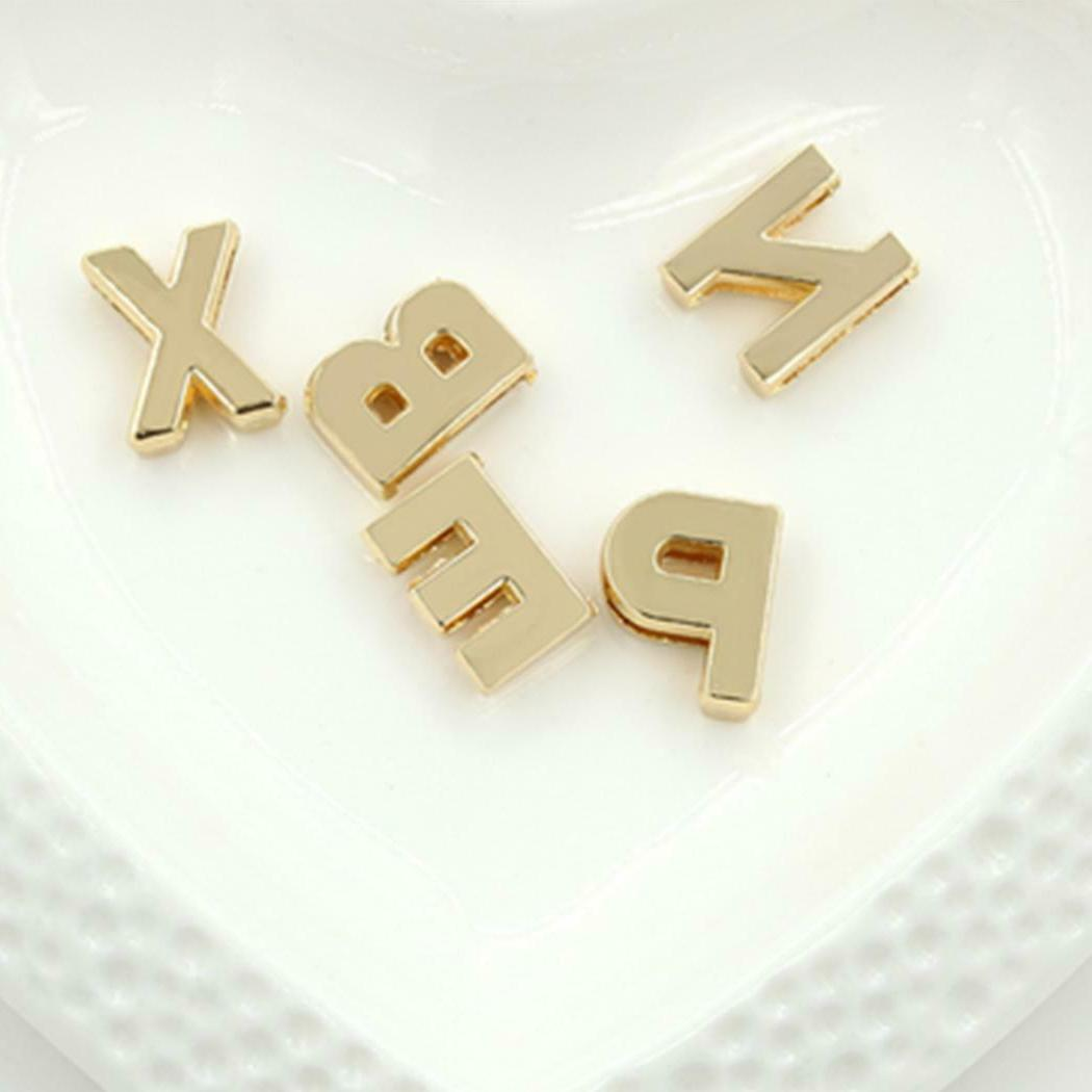 Women Men A-Z 26 English Custom Name Link Necklaces Lots