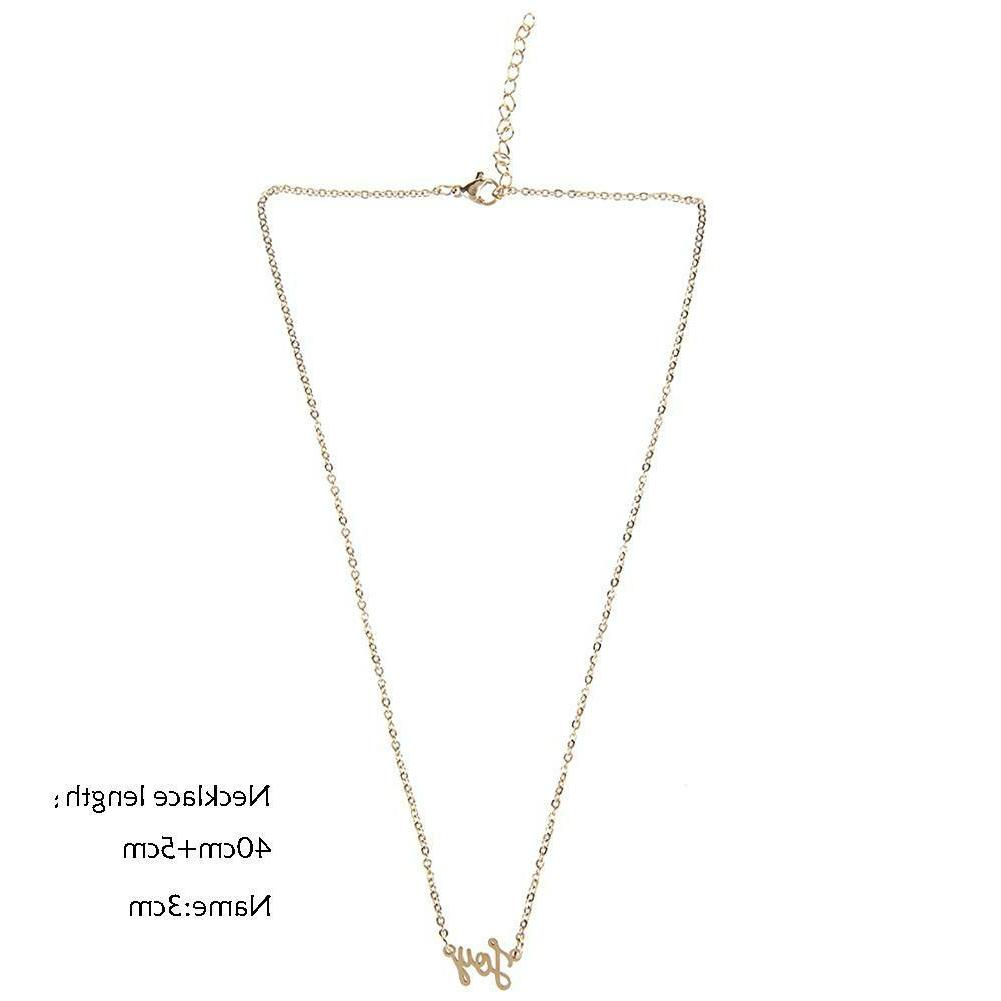 Women Men Signature Name Necklace Jewelry