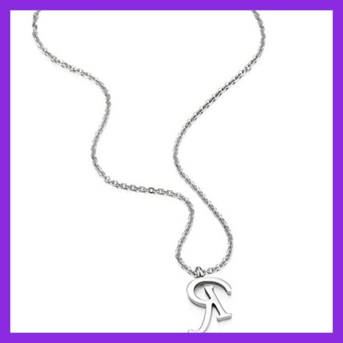 "Womens Initial Alphabet Pendant Necklace W 20"" Cha"