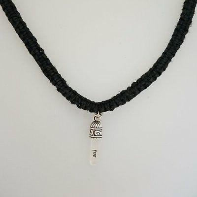 YOUR A GRAIN OF RICE Macrame Hemp Square Knot Necklace