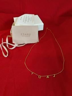 lady name necklace gp on sterling silver
