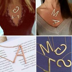 Letter Name Initial For Women Gold Silver Color Chain Fashio