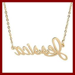 AOLO Letter Words Charactors Name Charm Necklace, Jessica