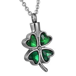 COCO Park Lucky Four Leaf Clover Cremation Jewelry - Green D