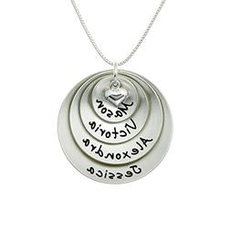 Lucky Four Personalized Sterling Silver Name Necklace. Custo