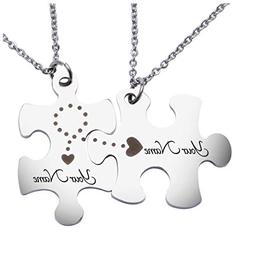 matching puzzles personalized necklace name necklace custom
