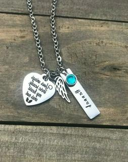 Memorial necklace Personalized name loss of daughter son Mot