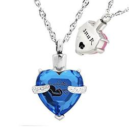 misyou Glass Cremation Jewelry Always in My Heart Birthstone