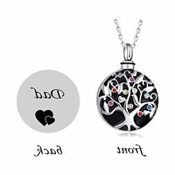 misyou Life Tree Stainless Steel Ash Memorial Necklace Urn P
