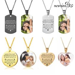 Mothers Day Heart Shape Round <font><b>Necklace</b></font> <