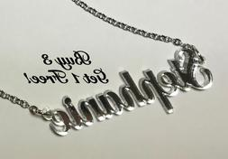 name necklace acrylic personalized buy 3 get