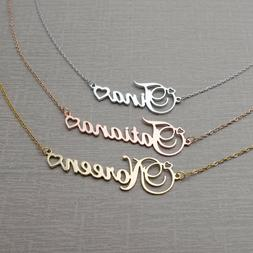 name necklace custom nameplate pendant jewelry personalized