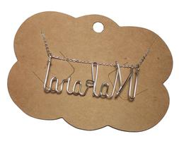Name Necklace Sterling Silver .925 ANY NAME Personalized - C