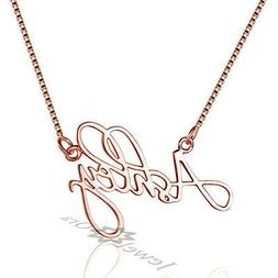 Handmade Name Pendant Personalized 925 Sterling Silver Name