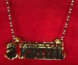Name Plate Custom Name Necklace Money Sign Black Letters Las
