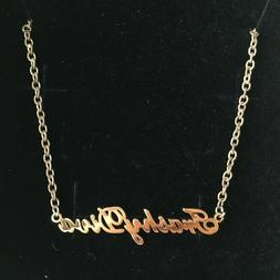 Trashy Diva Name Plate Necklace 90s gold novelty chain new