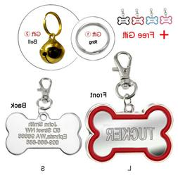 Name Tags for Dog Engraved ID Tag Bone Bulk Personalized for