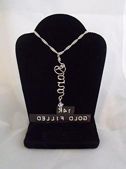 """Name necklace, Personalized name, DANA or ANY name on 18"""" ch"""
