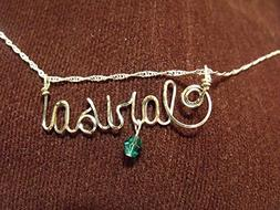Name necklace, Personalized name, CLARISA or ANY name on 18""
