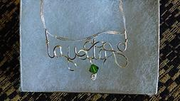 Wire Name necklace, Personalized name, LATOYA or ANY name on