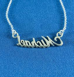 Necklace pendant chain silver necklaces personalized name Mi