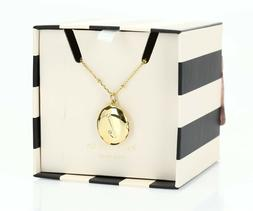 kate spade ny 127177 initial L locket Gold necklace $68