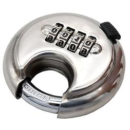 "padlock stainless steel disc 3/4"" wide 3/8"" edge with self-r"