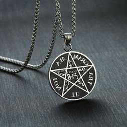 Pentagram of Solomon Pendant Tetragrammaton Name of God Men
