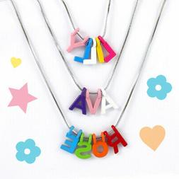 Personalised Girls Custom Name Necklace, Alphabet Letter, Si