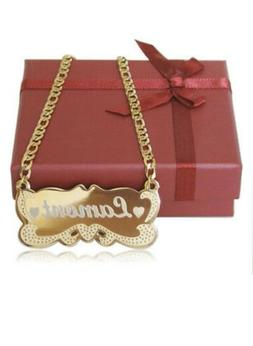 personalize name plate necklace for girl