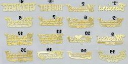 PERSONALIZED 14K GOLD GP/ SILVER NAME PLATE NECKLACE 16 STYL