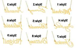 PERSONALIZED 14K GOLD PLATED NAME PLATE NECKLACE 9 Popular S