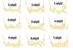 personalized 14k gold plated name plate necklace