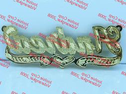 PERSONALIZED  14K GP 3D DOUBLE PLATED SCRIPT NAME PLATE NECK