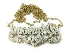 Personalized 3D Name plate Necklace /a1