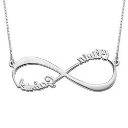 Ouslier Personalized 925 Sterling Silver Couple Eternal Infi