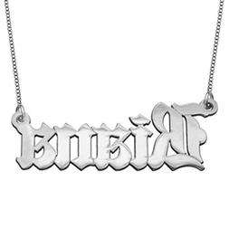 HACOOL Personalized 925 Sterling Silver Old English Font Nam