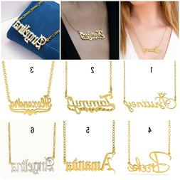 Personalized ANY NAME 14K Gold Plated Sterling Silver Neckla