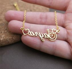 Personalized Any Name Custom Heart Necklace Men Women Jewelr