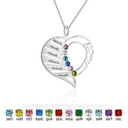 Personalized Birthstone Name Necklace Family Mother Gifts He