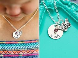 Personalized Butterfly Necklace – DII AAA - Little Girls J