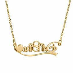 HUAN XUN Personalized Custom Any Name Choker Necklace Best W