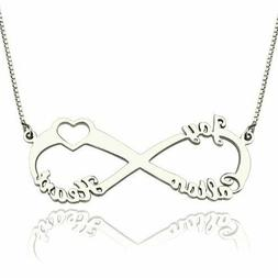 Personalized Custom Name Infinity Necklace 3 Name Family Mom