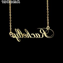 Amaxer Personalized Custom Name Initial Necklace Nameplate L