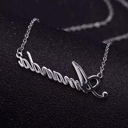 USA - Personalized Custom Necklace- Name Necklace - Initial