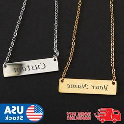 Personalized Engraved Custom Your Name Stainless Steel Neckl