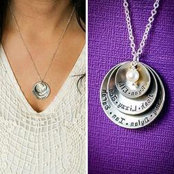 Personalized Grandmother Necklace – DII ABC - Mom Gift - H