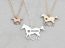 Personalized Horse Racing Necklace - IBD - Personalize with