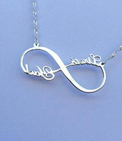 Personalized Infinity 2 Name Necklace Sterling Silver Infini